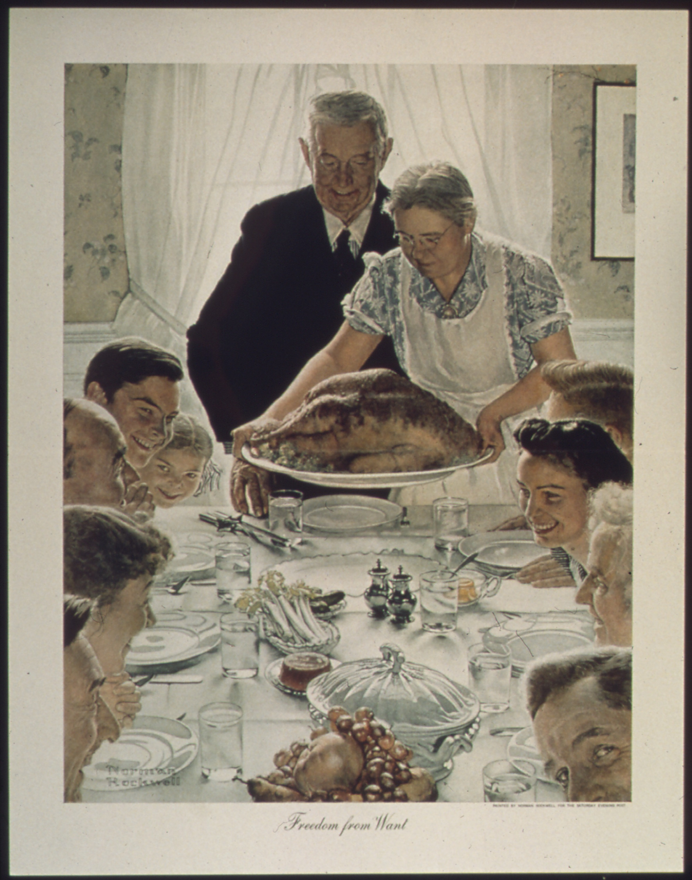"""Norman Rockwell's """"Freedom from Want"""""""