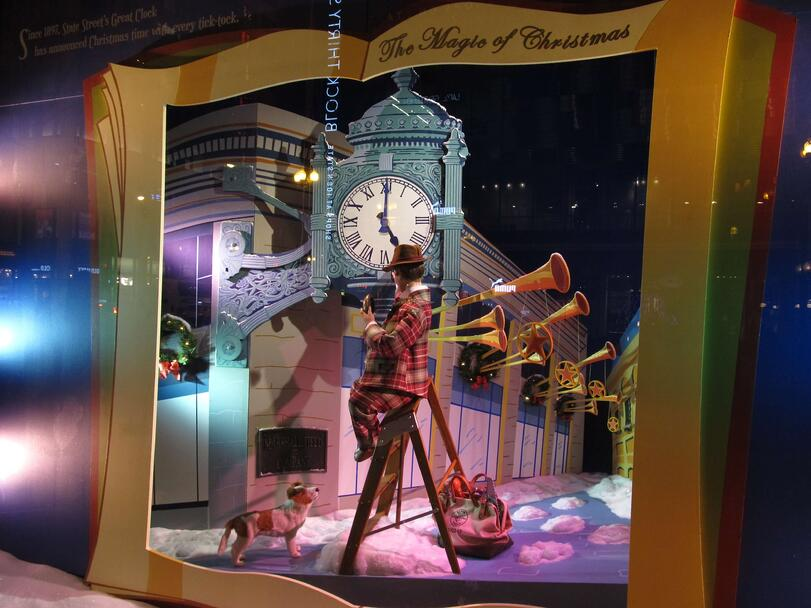 Some of the nation's biggest retailers showcase emotion, rather than products, in their Christmas displays.