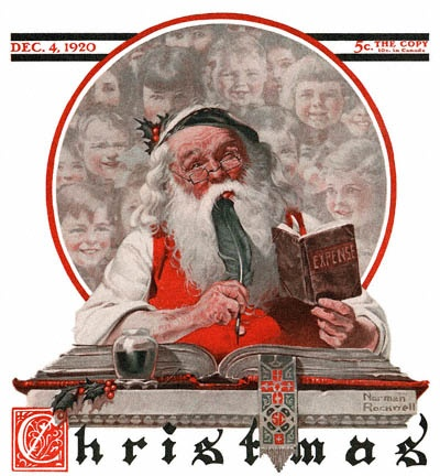 Norman Rockwell's iconic Saturday Evening Post holiday illustration.