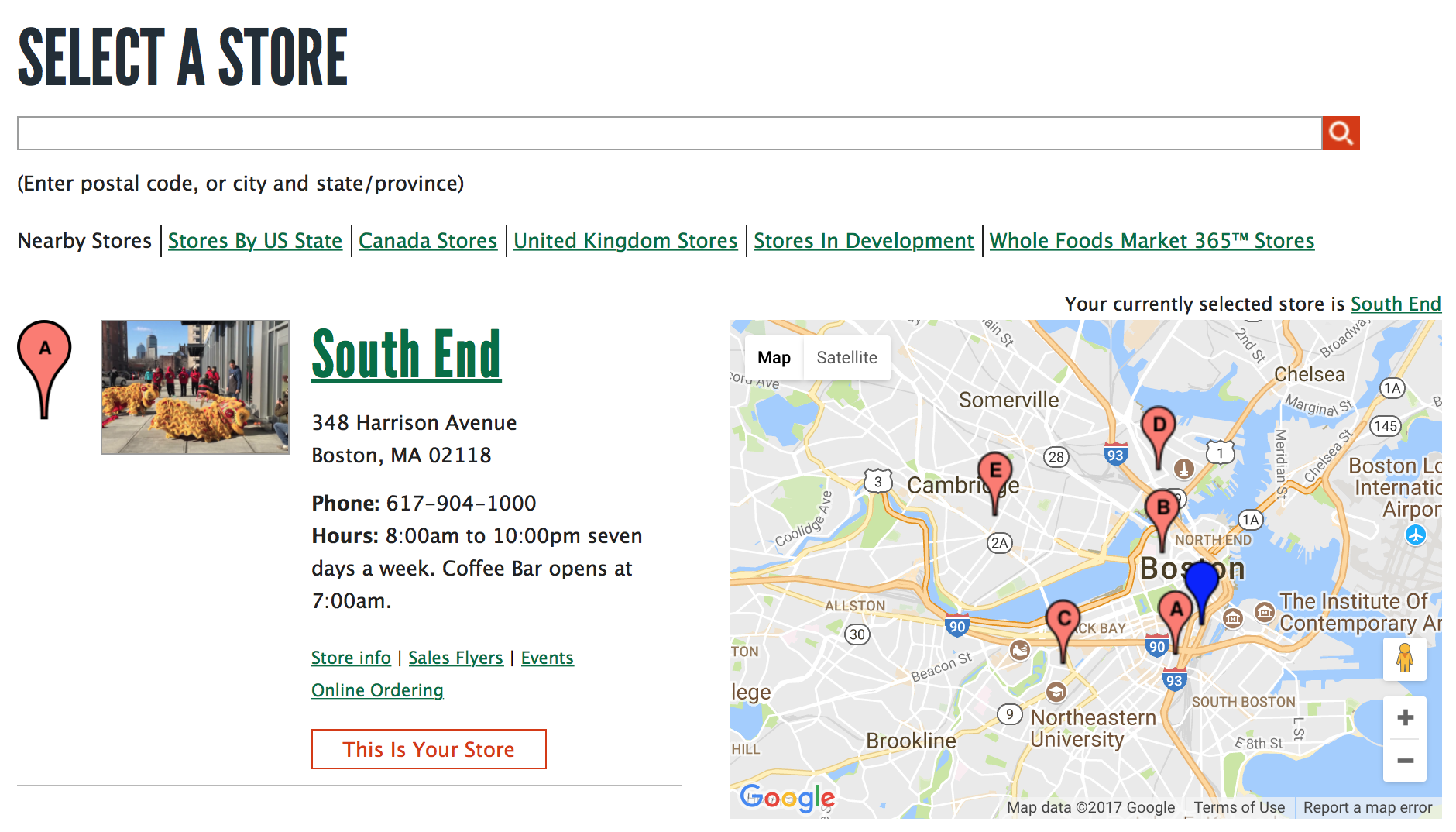You can use Whole Foods' Store Locator to get lists of the products sold in their stores around the country.