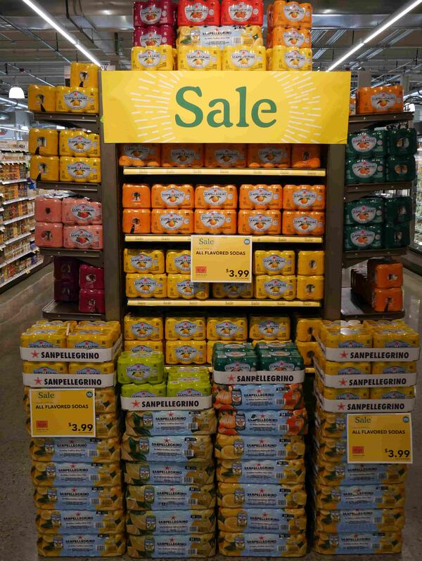 San Pellegrino End Cap Display