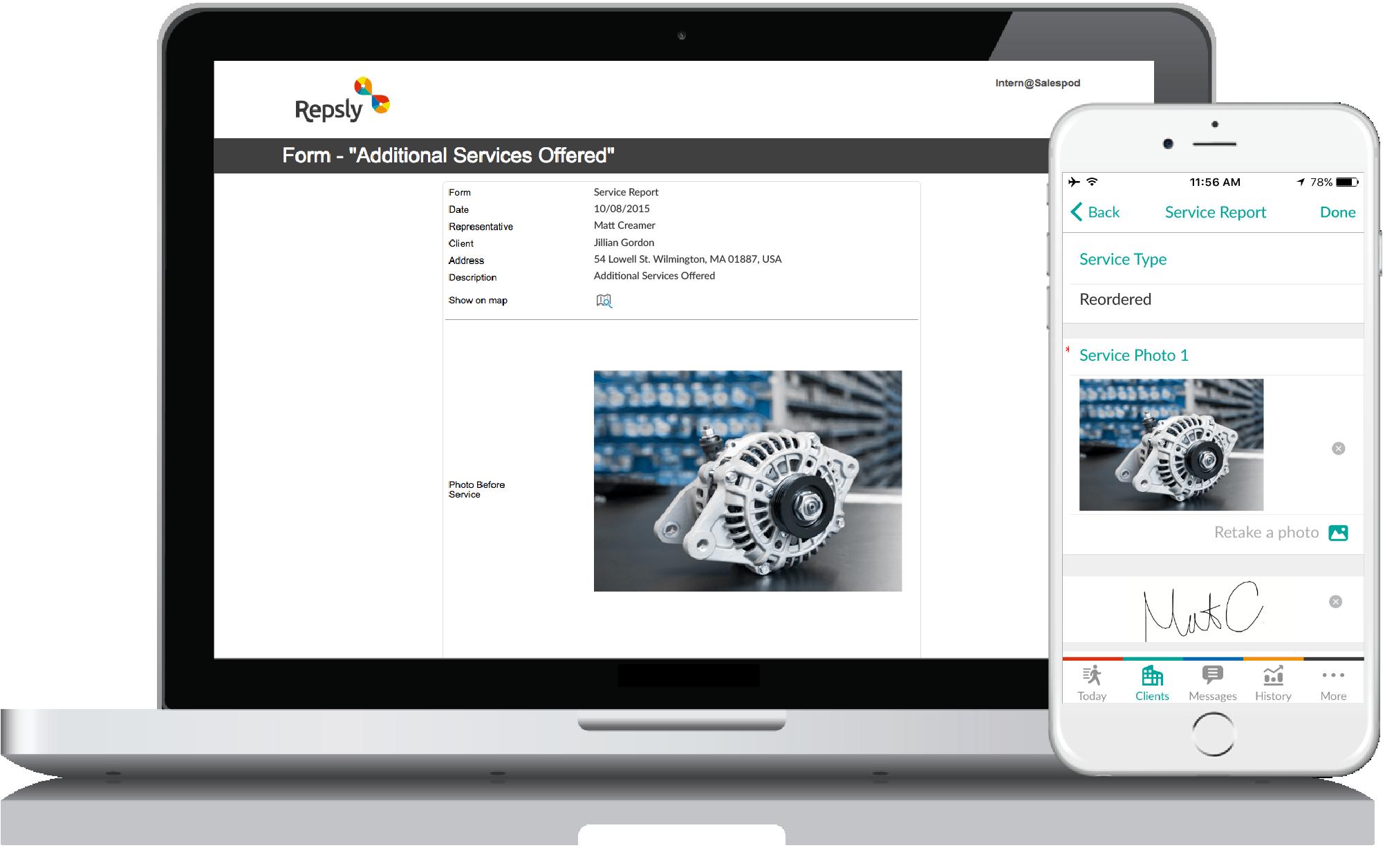 Auto Parts App Mobile forms