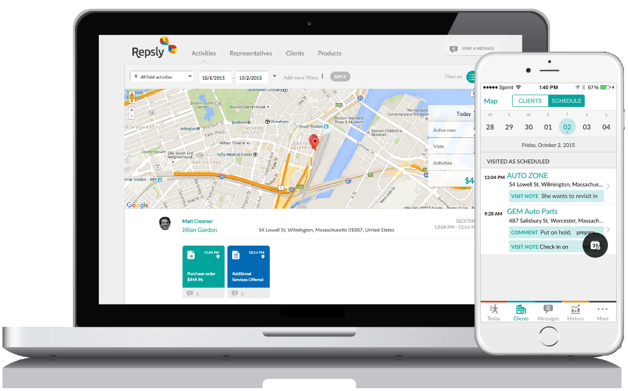 Auto Parts App GPS Tracking