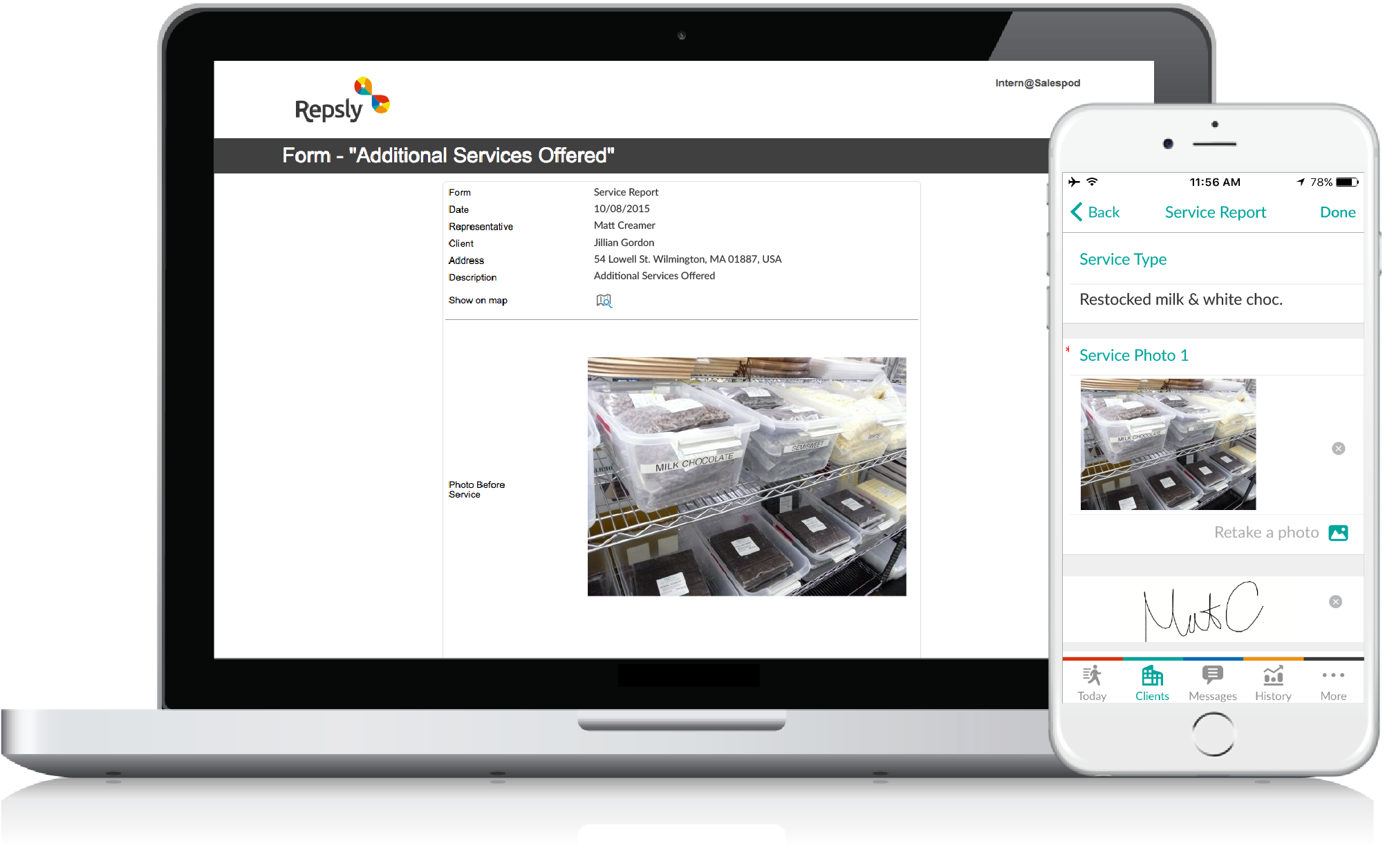Bakery Management Software Mobile forms
