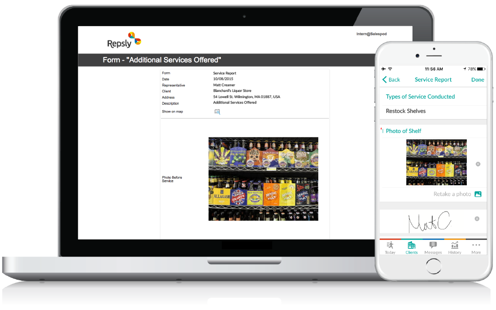 Beer Distribution Software Mobile forms