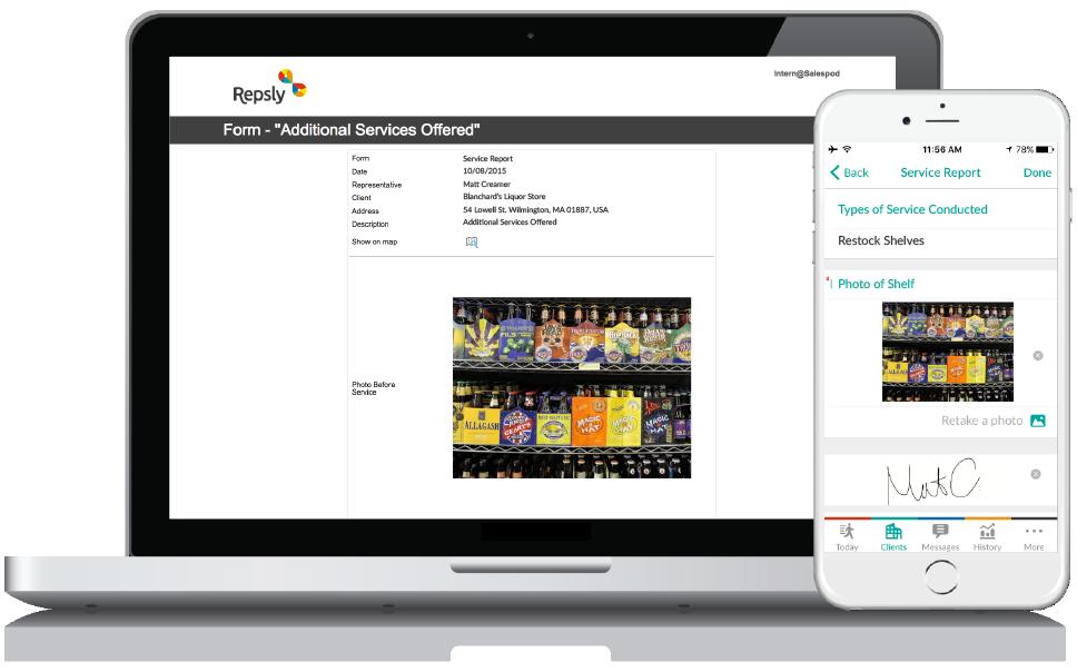 Beer Distribution Software Mobile forms
