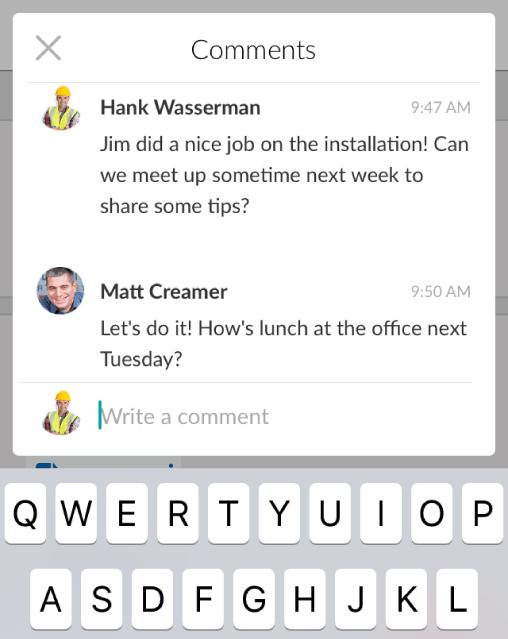 Mobile Team Workforce Collaboration
