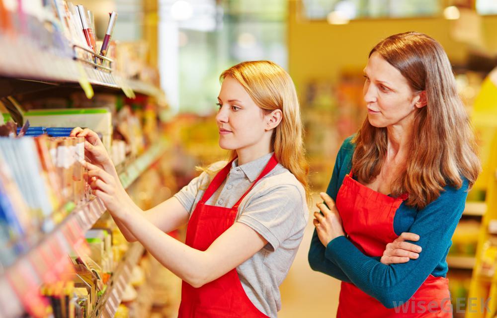 merchandising retail shelves