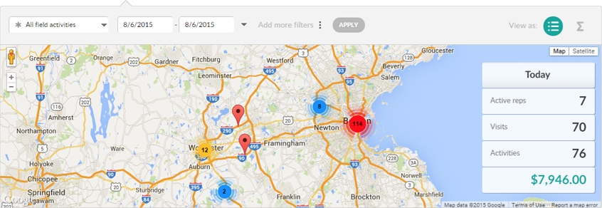 Mobile CRM Map