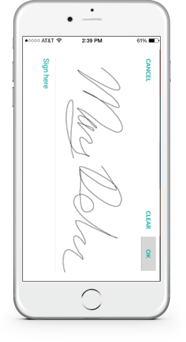 electronic signature app mobile view
