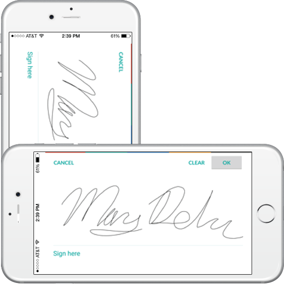 mobile crm electronic signature