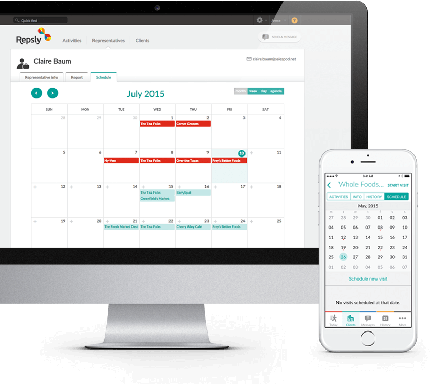 mobile crm visit scheduling