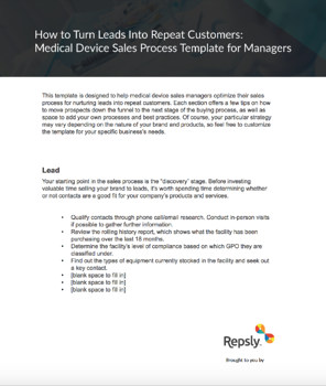 Sales process for managers how to turn leads into repeat customers medical device sales process template for managers maxwellsz