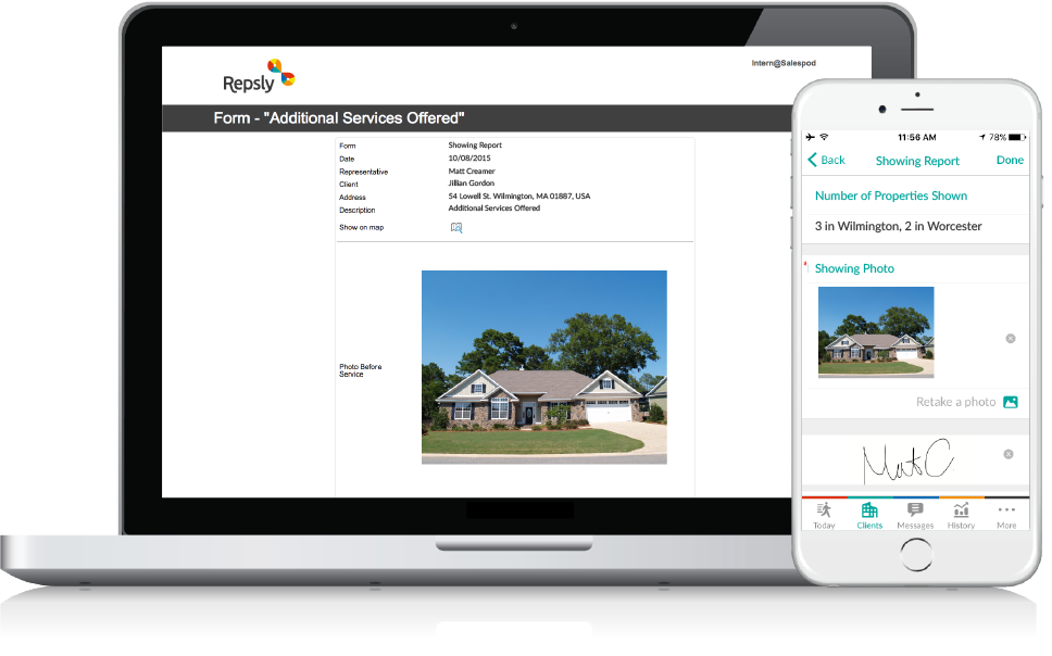 Software for Real Estate Management Mobile forms