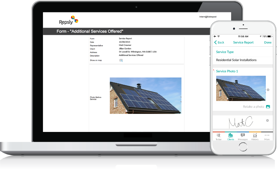 Solar CRM Mobile forms