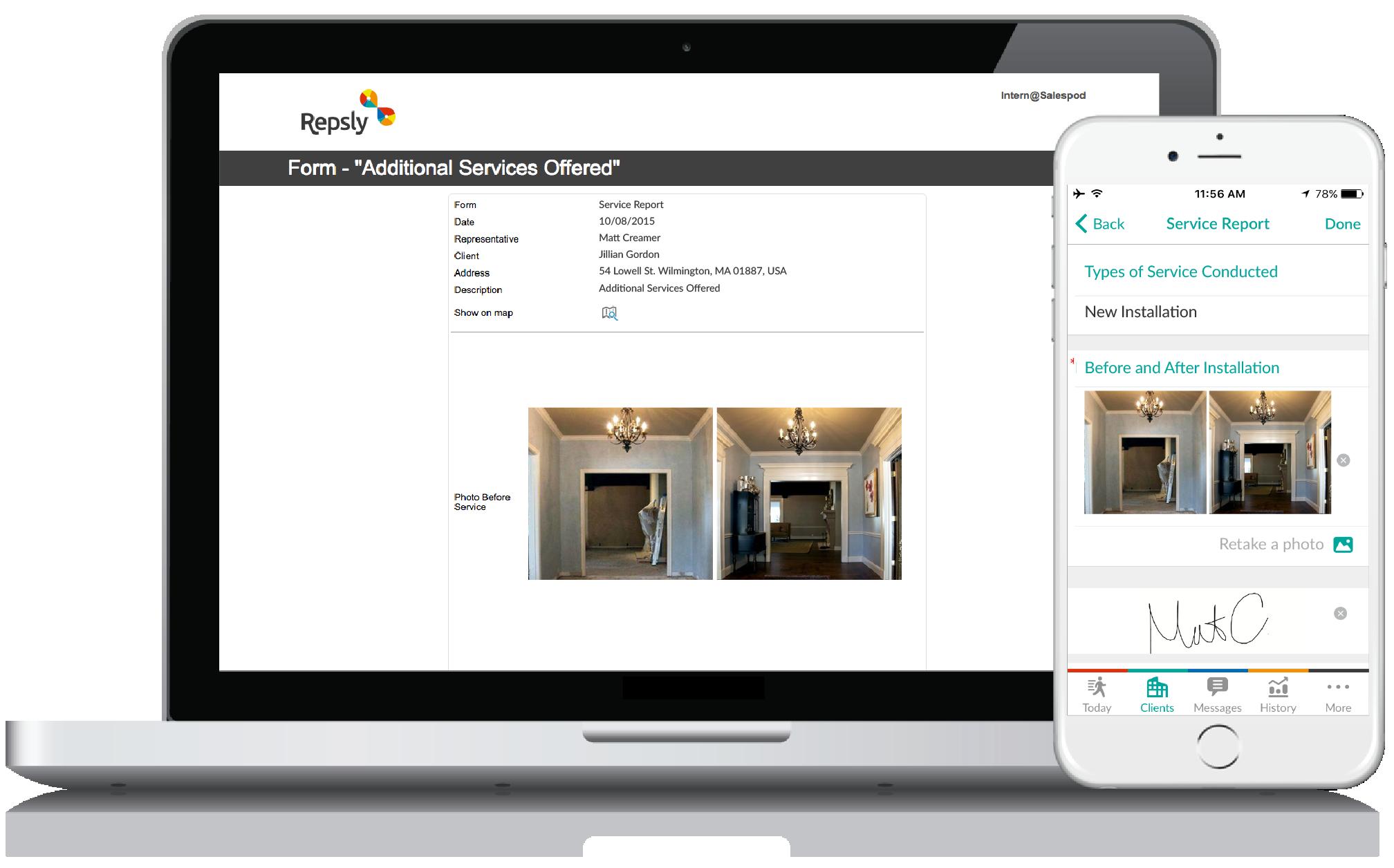 Carpenter App Mobile forms