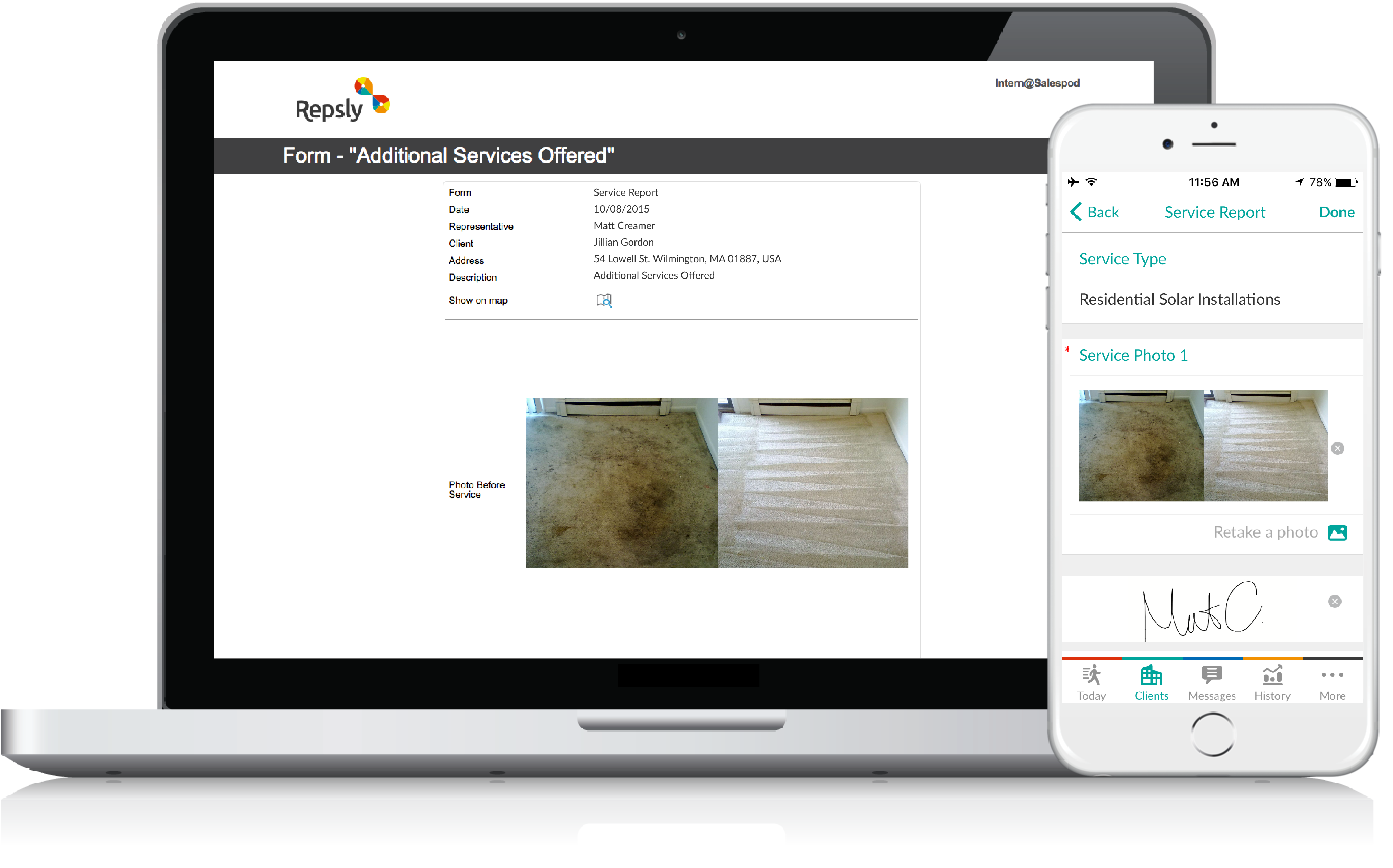 Carpet Cleaning Scheduling Software Mobile forms