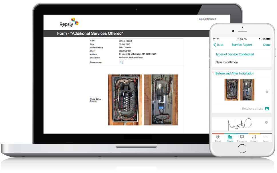 Handyman Software Mobile forms