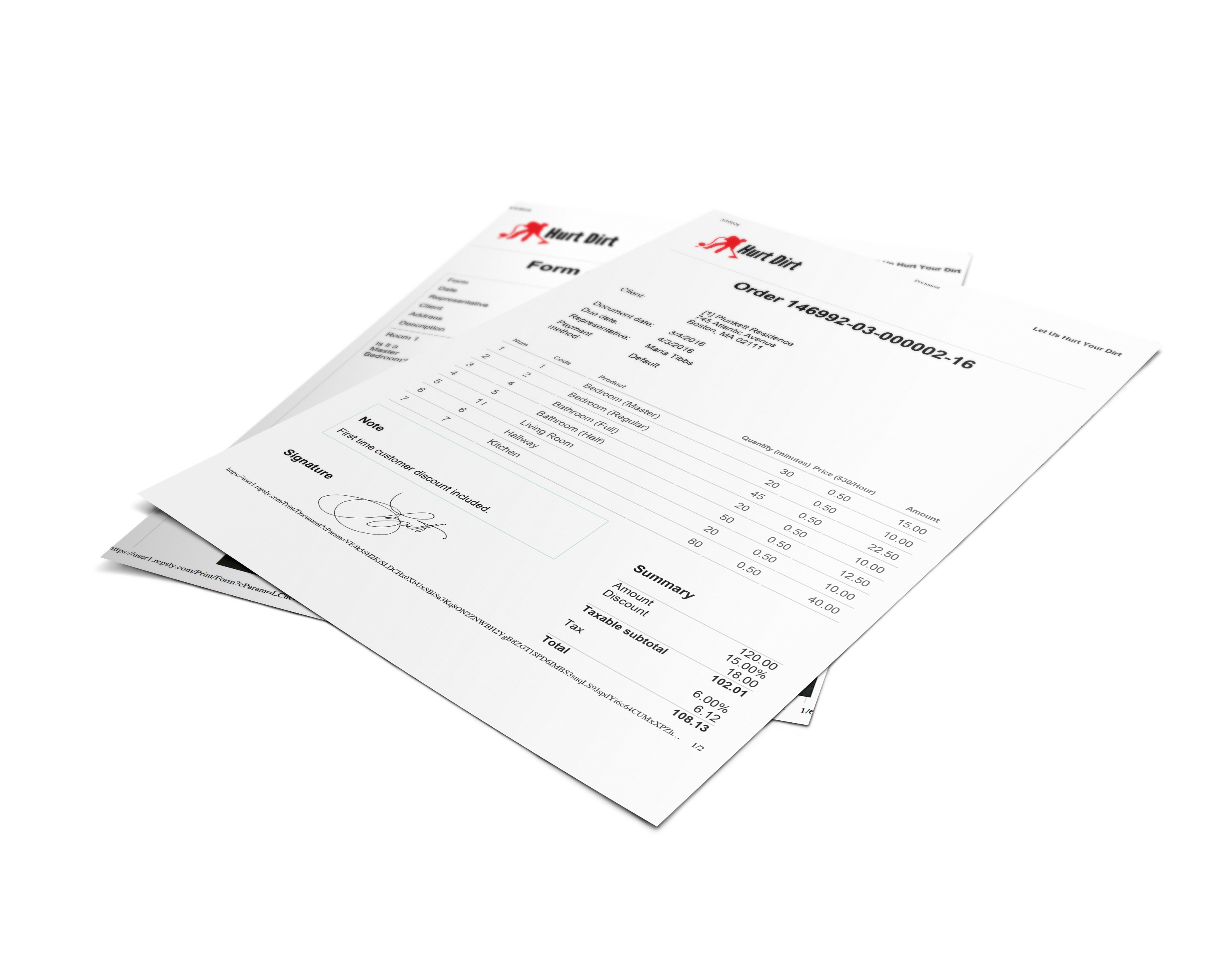 free landscaping contract forms