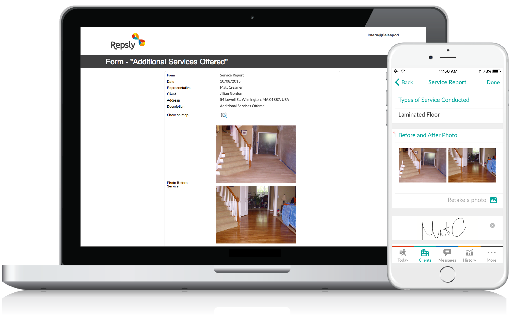 Flooring Software Mobile forms