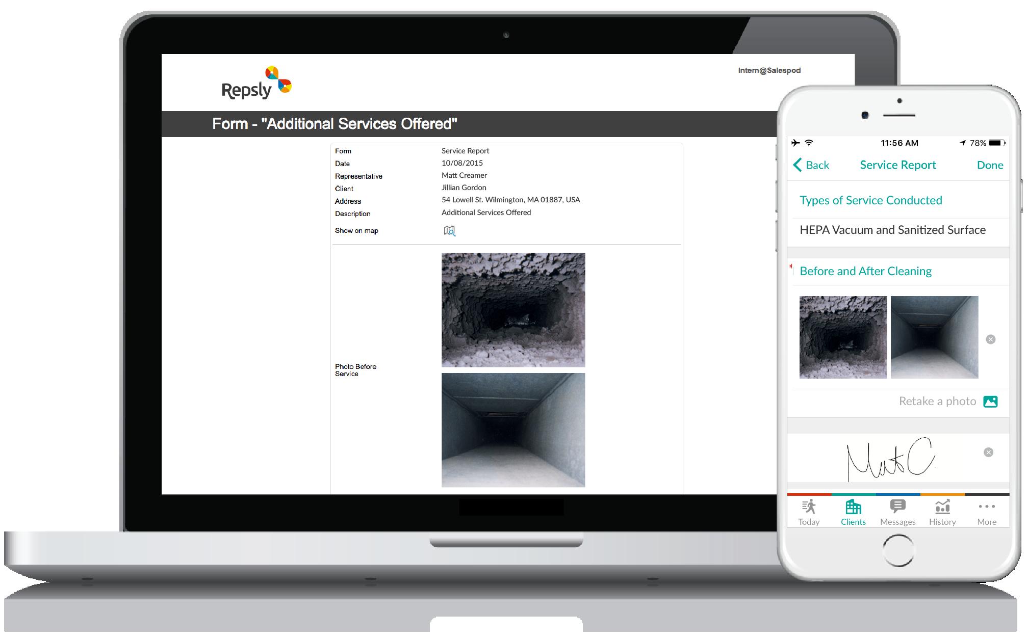 HVAC Service Software Mobile forms