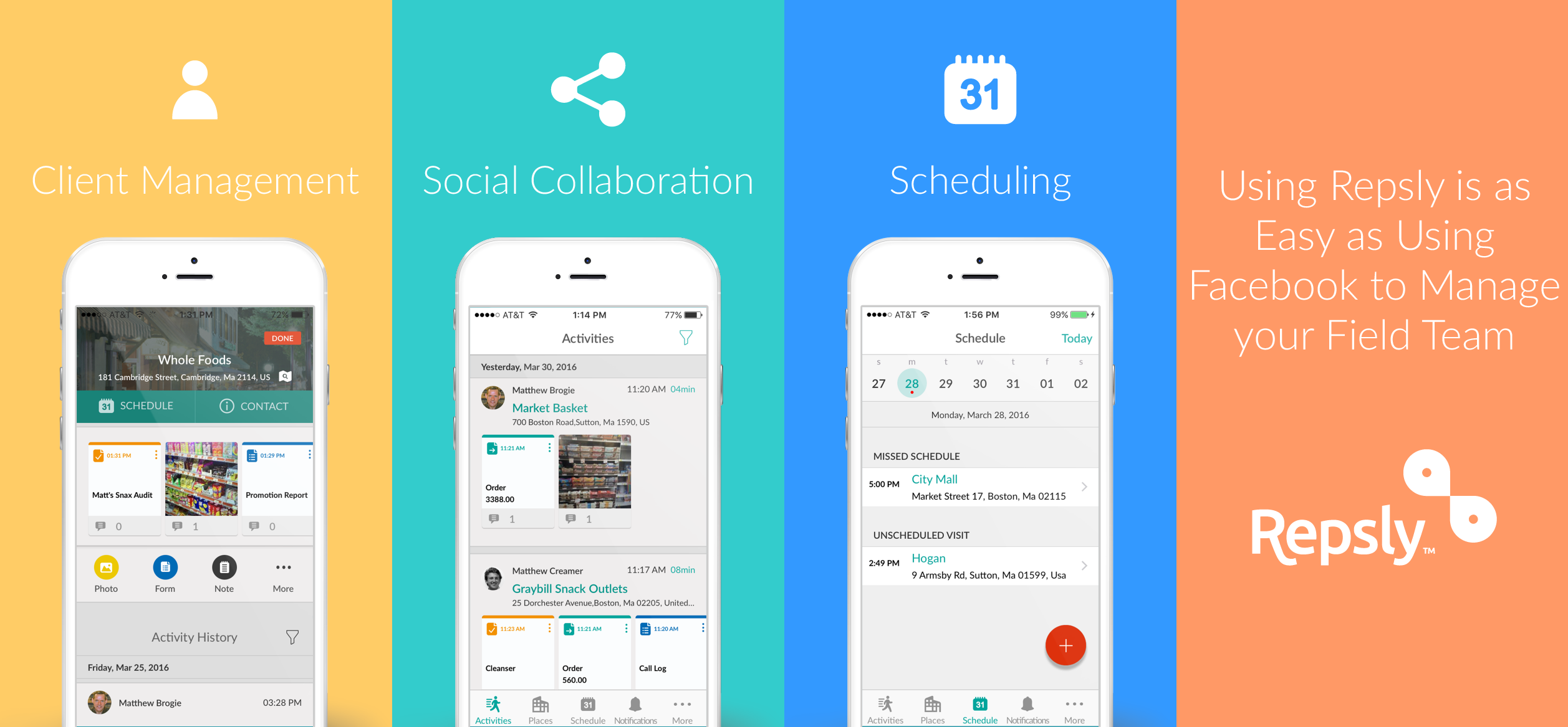repsly best mobile apps remote team productivity