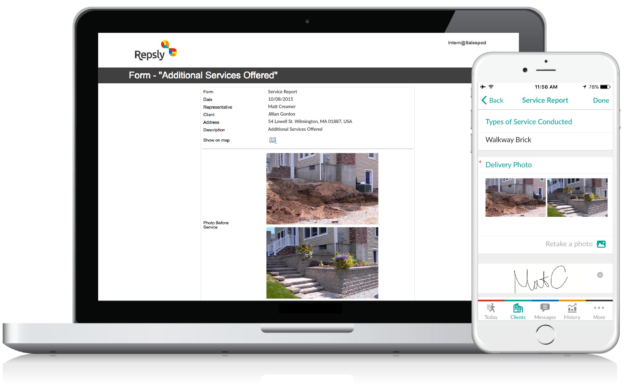 Masonry Contractor Software Mobile forms