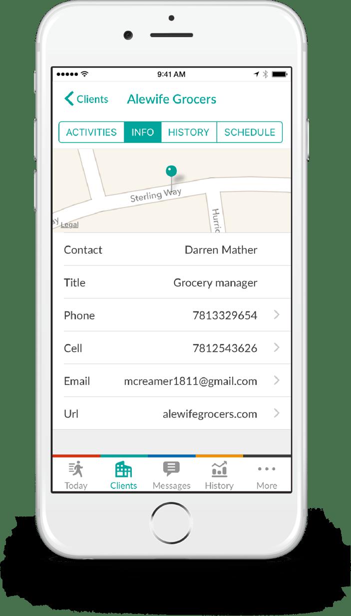 client information management mobile crm