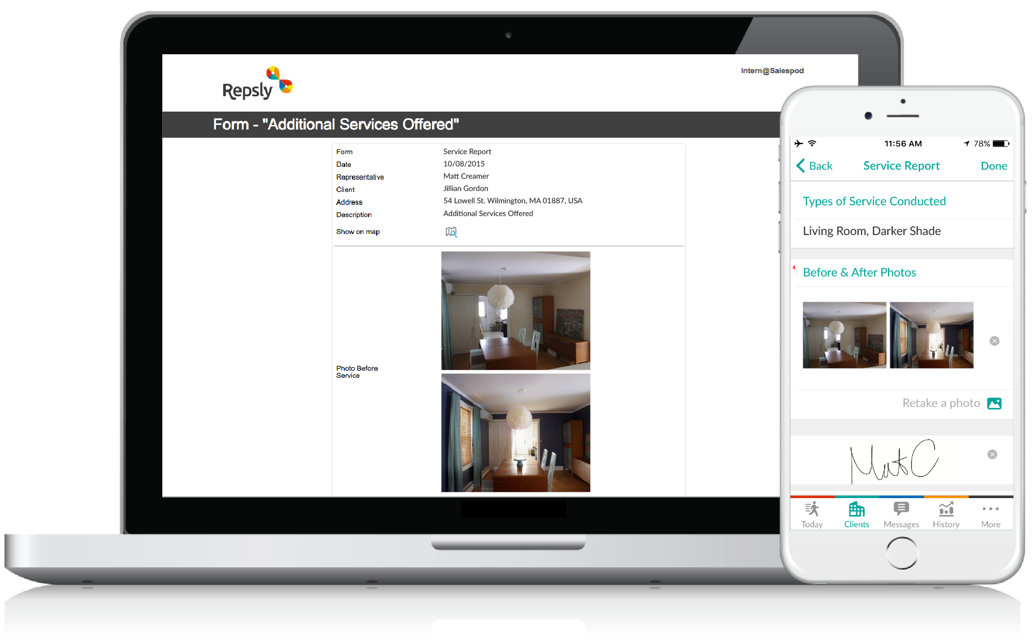 Painting Contractor Software Mobile forms