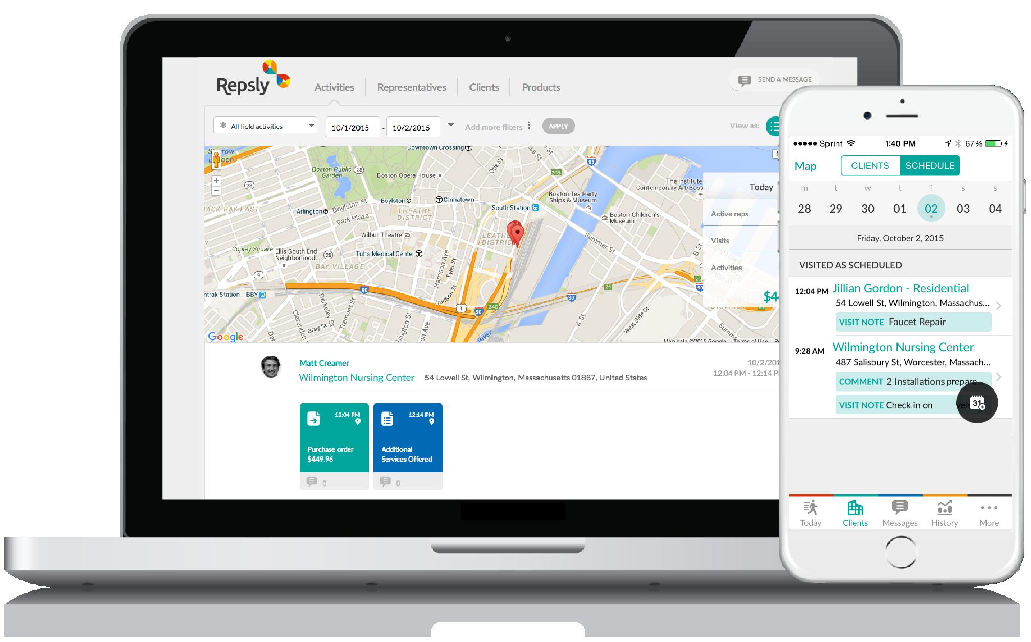 Plumbing Service Software GPS Tracking