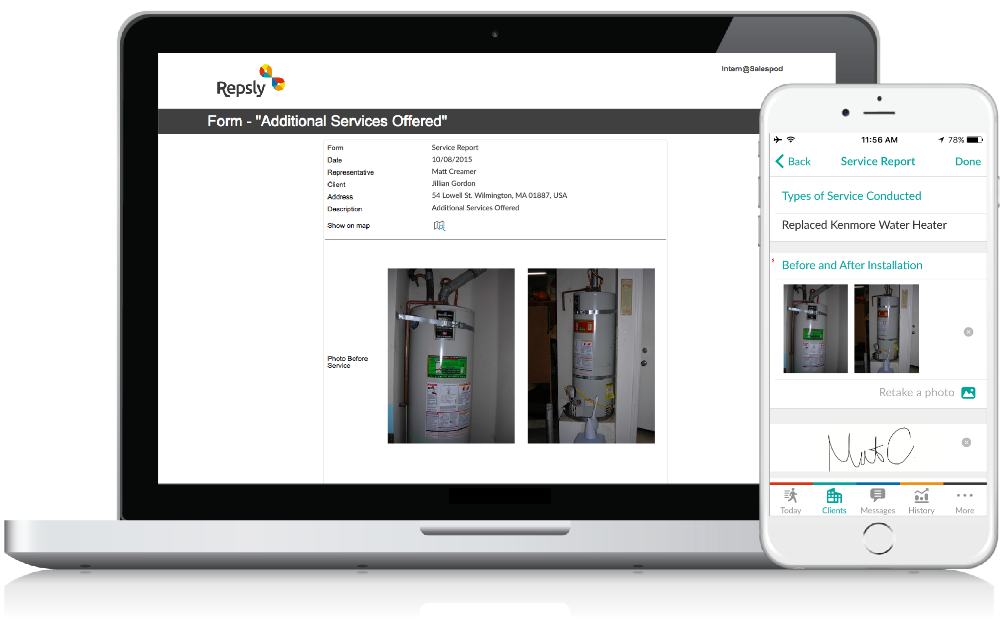 Plumbing Service Software Mobile forms