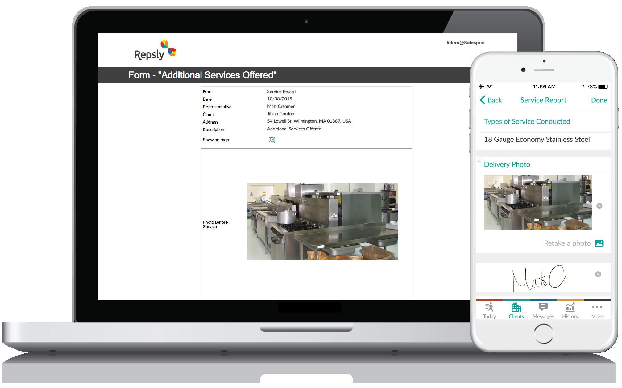 Restaurant Sales Software Mobile forms