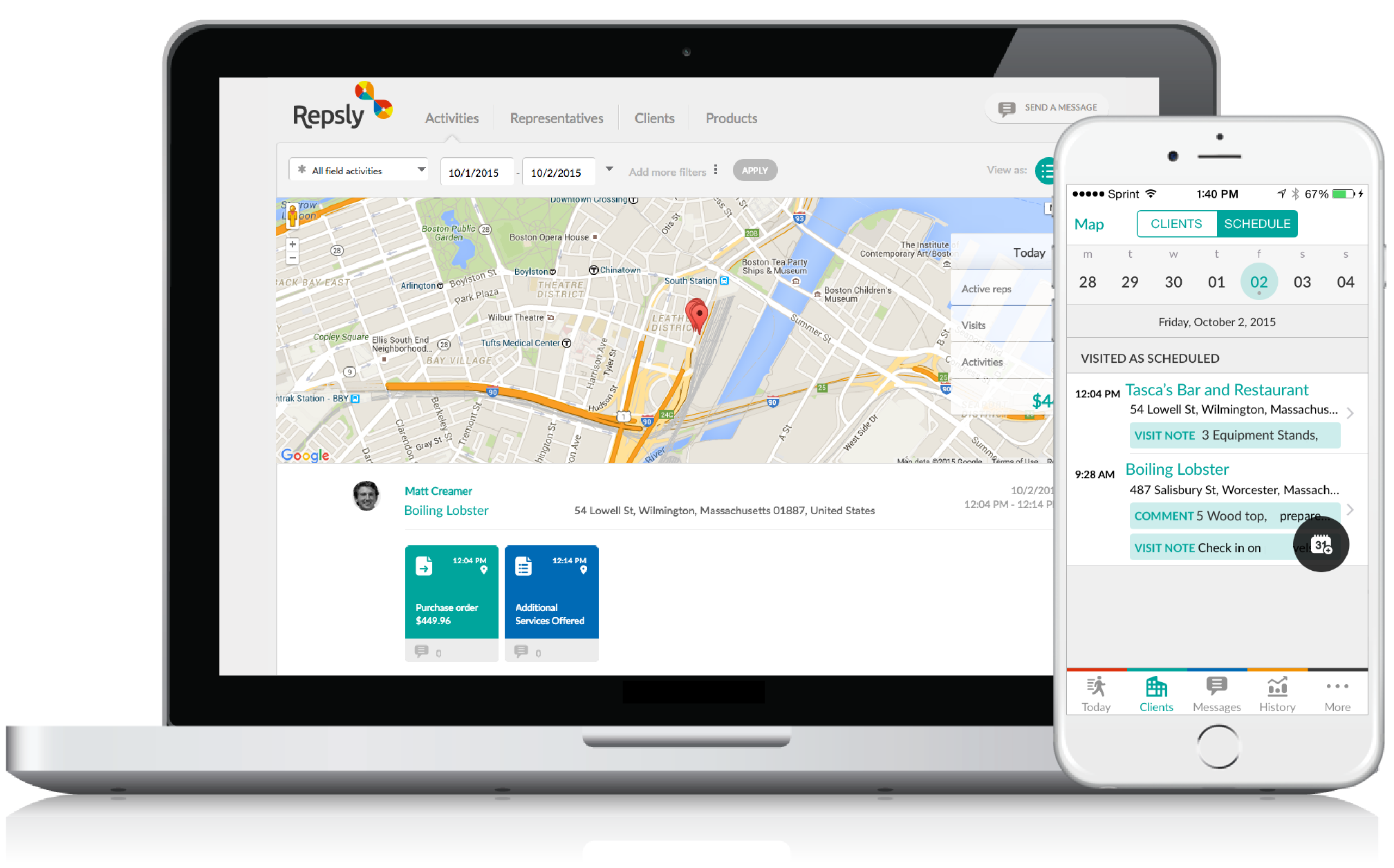 Restaurant Sales Software GPS Tracking