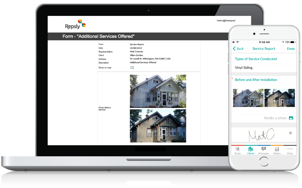 Software for Siding Contractors Mobile forms