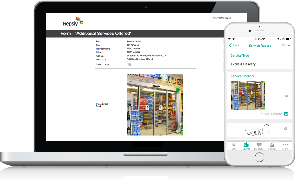 Beverage Distribution Software Mobile forms