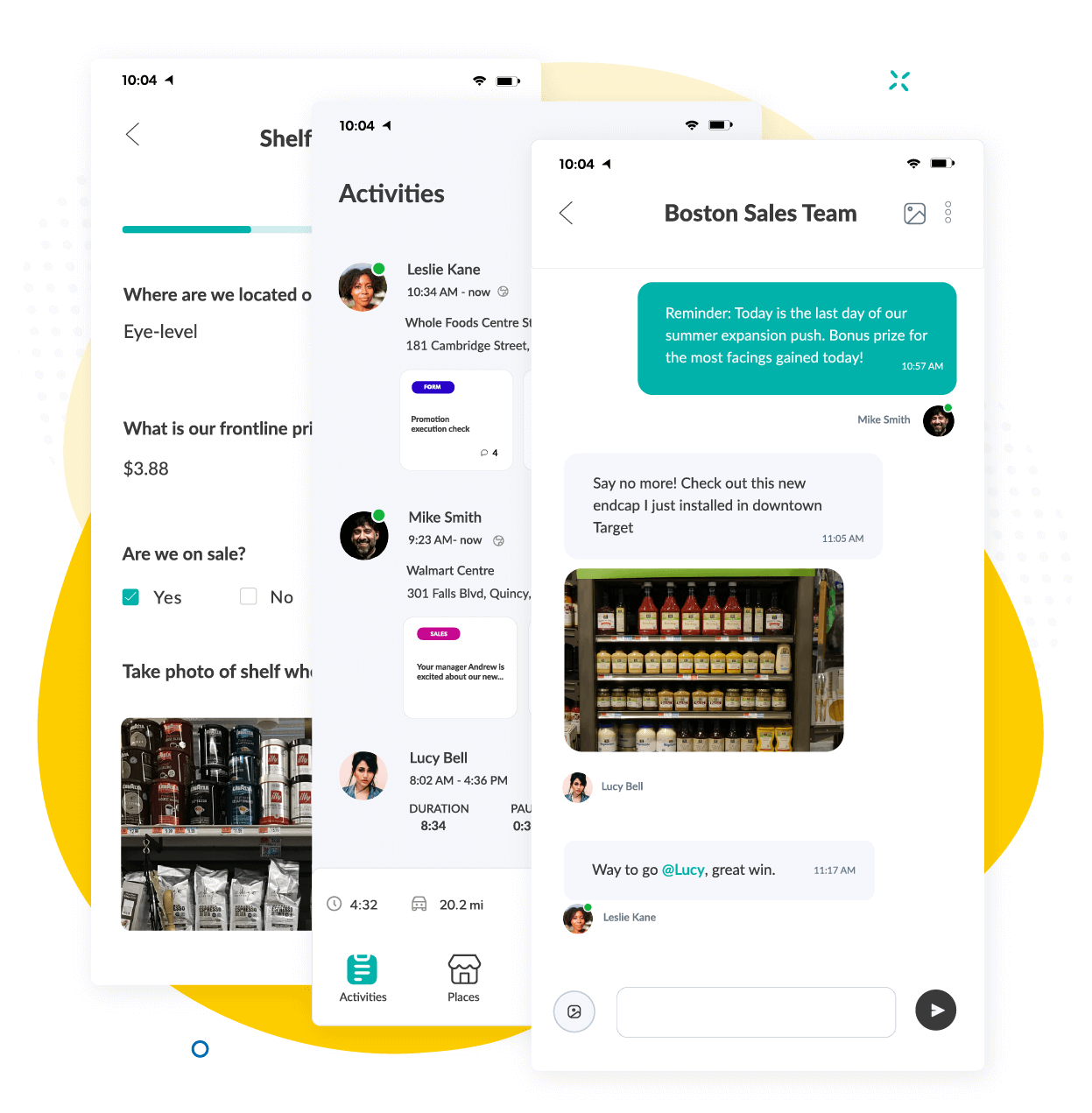 Repsly Phone App Features